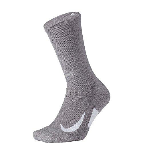 NIKE Unisex Spark Cushioned Crew Running Socks, Gunsmoke/Atmosphere Grey/White, Size ()