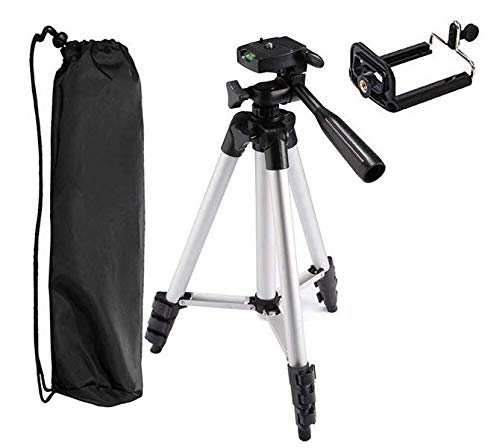 Syviva 携帯電話カメラ三脚 41インチ 軽量アルミ製携帯電話カメラ三脚 ユニバーサル携帯電話三脚マウントとキャリーバッグ付き   B07L7GXXGS
