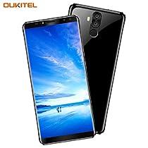 OUKITEL K6 Smartphone 6.0 Pollici (18:9 Aspect Ratio Full Vision) FHD+ Display Face ID 6300mAh Batteria 6GB RAM 64GB ROM 21MP+8MP Fotocamera Posteriore 13MP+8MP Fotocamera Frontale Android 7.1 5V/3A Flash Charge NFC Impronte Digitali Dual SIM