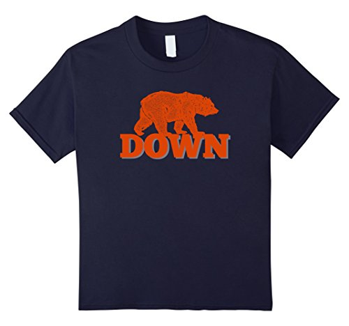 Kids Orange Bear Custom Classic Down T Shirt 12 Navy