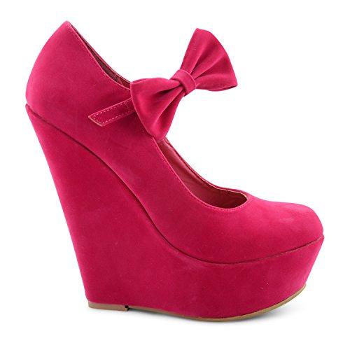 Footwear Sensation - Sandalias de vestir para mujer rosa rosa fucsia