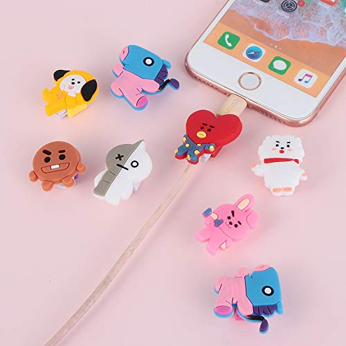 Data Line Cover Charging Cable Bite Kpop Bangtan Boys BT21 Cute Phone Charge Cable Conector Protector TATA Cooky Van (RJ) by maxgoods (Image #4)