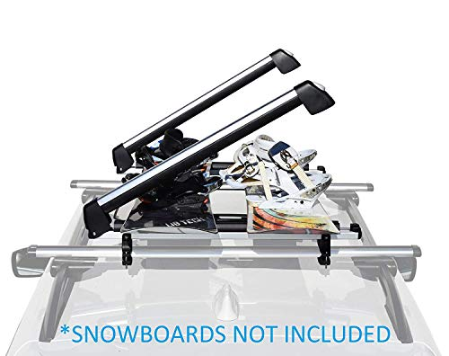 Car Racks & Carriers Ski/Snowboard Rack SnowMax Fit 6 Pair Skis or 4 Snowboards