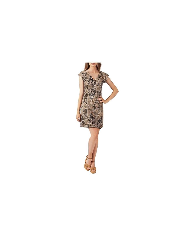 Aller Simplement - Short-sleeved V-neck short dress just go ST041 - S-M (36-38-40), Multicolor