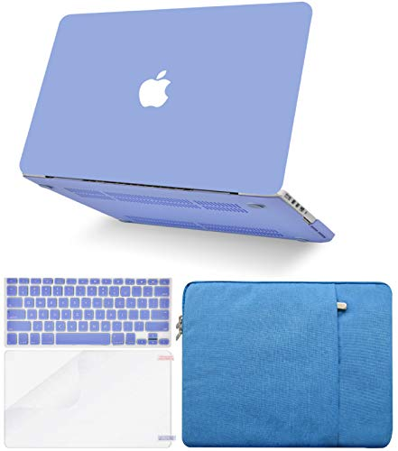 """KECC Laptop Case for MacBook Pro 13"""" (2020/2019/2018/2017/2016, Touch Bar) w/Keyboard Cover + Sleeve + Screen Protector (4 in 1 Bundle) Hard Shell A2159/A1989/A1706/A1708 (Pale Blue)"""