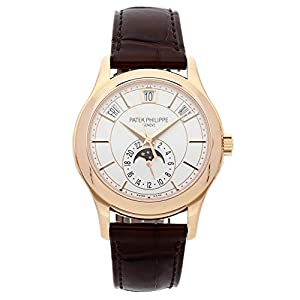 Best Epic Trends 41eZwr4P5nL._SS300_ Patek Philippe Annual Calendar Opaline White Dial Brown Leather Mens Watch 5205R-001