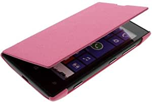 New Slim and Stylish Faux Leather Cover / Case for Nokia Lumia 520 - Pink