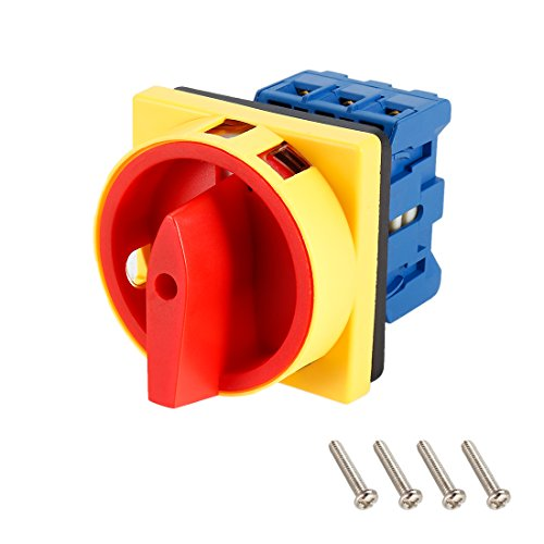 itch 2 Position Rotary Selector Cam Switch Panel Mount 6 Terminals Latching Ui 660V Ith 25A ()