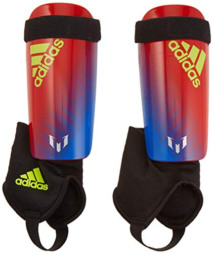 adidas Youth Messi 10 Shinguard Bold Blue/Active Red/Silver Met, Large (Renewed)