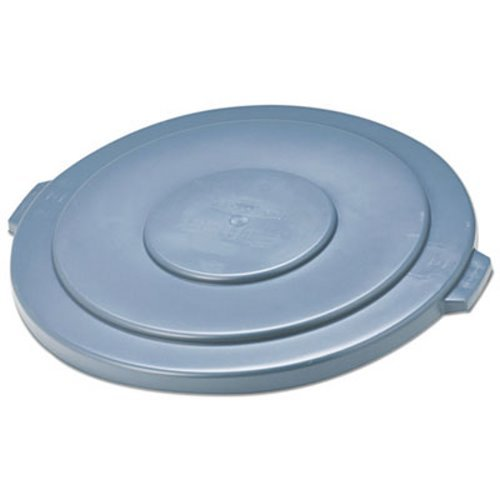 Rubbermaid FG265400GRAY Brute Flat Lid for 55 gal Round Containers, Gray Brute Container Flat Lid