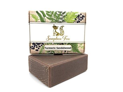 Turmeric Sandalwood Anti Aging Moisturizing Organic Goat Milk Bar Soap For Men & Women - Neem & Multani Mitti - Ayurvedic - 100% Natural Herbal Handmade Soap - Face & Body - Dry, Oily, Sensitive Skin