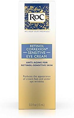 RoC Retinol Correxion Anti-Aging Eye Cream for Sensitive Skin, Anti-Wrinkle Treatment with milder retinol formula that helps condition skin to retinoids .5 fl. oz