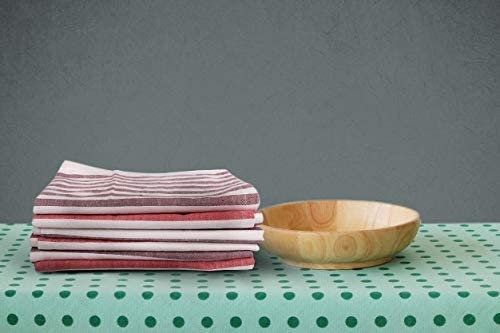 Size 20X20 Inch Garnet//Red Set of 12 Dinner Napkins,Premium Quality,100/% Cotton Ultra Soft Over sized Cloth Napkins with Mitered Corners MMSD,Horizontal Stripes Durable Hotel Quality