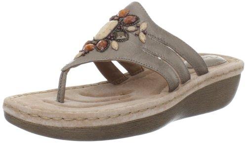 Clarks Femmes Clarks Amaya Yarrow Thong Sandale Platine
