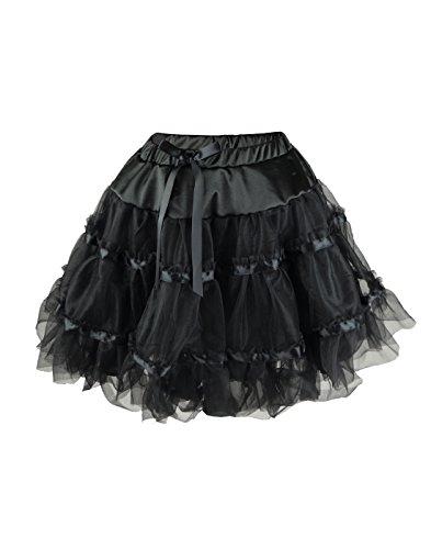 NawtyFox Plus Black Tutu Petticoat Dance (Burlesque Dancing Costumes)