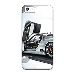 LJF phone case Durable Protector Case Cover With Nice Porche Hot Design For Iphone 5c
