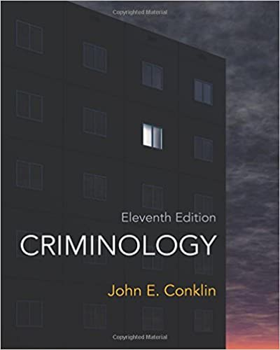 Criminology 11th Edition John E Conklin 8601421875813
