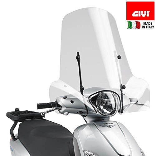 Givi Motorcycle Screens - SCREEN GIVI 107A AND FITTING KIT A110A FOR FLY 50-100-125-150 (04 > 17)
