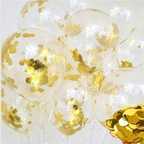 ラテックススパンコール紙吹雪風船ポータブルパーティー風船透明な結婚式の誕生日の装飾パーティーの装飾