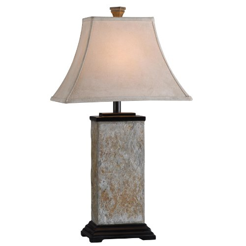 kenroy home bennington table lamp with natural-slate finish