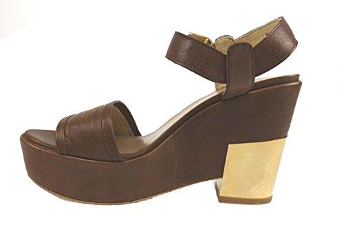 scarpe donna STUART WEITZMAN sandali marrone pelle AP819
