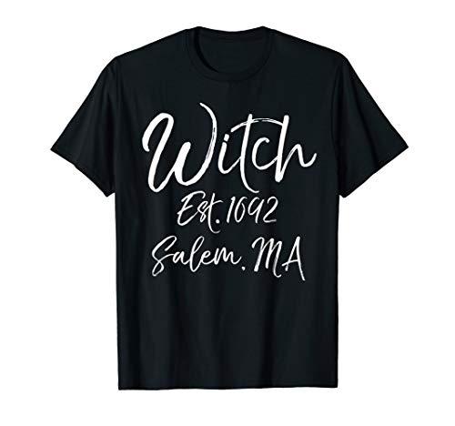 Witch Est. 1692 Salem, MA Shirt Funny Halloween Costume ()