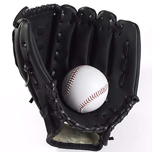 zzpopGG Glove,Baseball,Thicken Infield Pitcher Baseball Glove Softball Practice Training Equipment - Brown S Ball Soft Brown Gloves