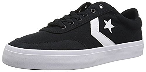 Converse Courtlandt Low Top Sneaker, Black/White/Black, 11 M US
