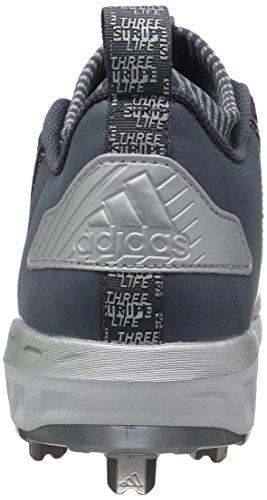 Chaussure De Basket-ball Mid Adidas Mens Freak X Carbone, Onix / Blanc / Argent Métallisé, 5.5 Medium Us