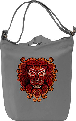 Voodoo Tiger Mask Borsa Giornaliera Canvas Canvas Day Bag| 100% Premium Cotton Canvas| DTG Printing|