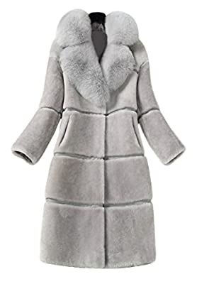 Faux Fur Coat Women Long, Adults Warm Winter Jacket Casual Outwear 3 Colors XS-XL