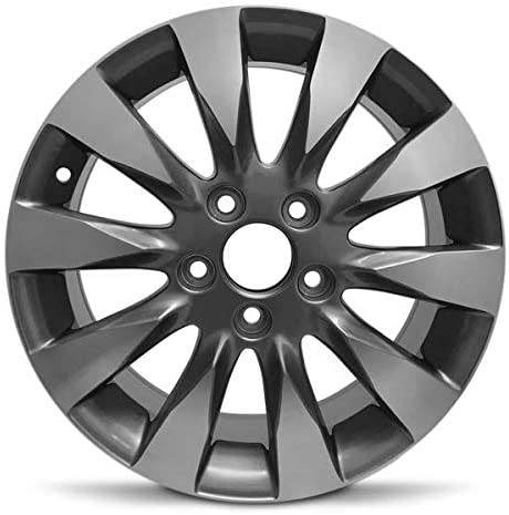 Exact OEM Replacement Full-Size Spare Road Ready Car Wheel For 2009-2011 Honda Civic 16 Inch 5 Lug chrome Aluminum Rim Fits R16 Tire