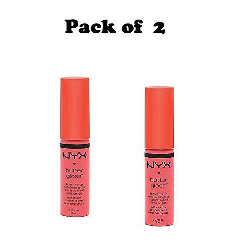 Pack of 2 NYX Butter Gloss, Apple Strudel ( BLG08 )