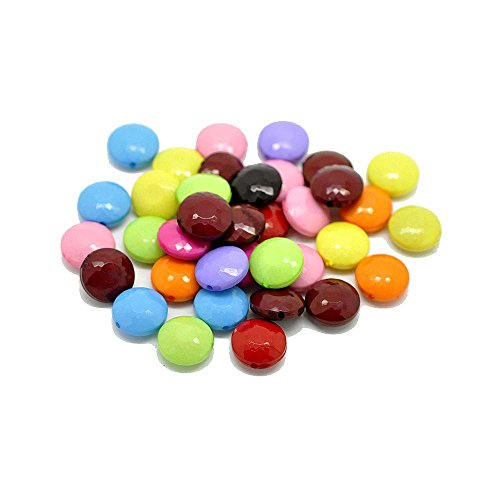 Rockin Beads Acrylic Puffed Coin Mixed 14mm Beads, 90 Pack (1.2mm Hole) (Beads Coin Puffed)