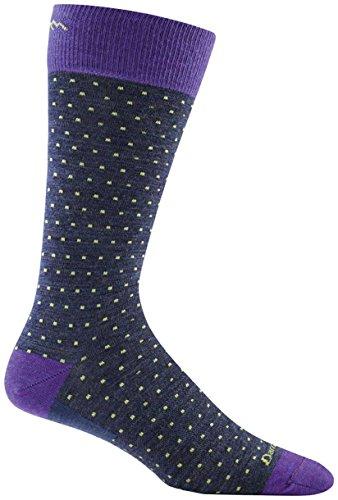 Darn Tough Merino Wool Classic Dot Crew Light Socks - Men's Denim Large DISCONTINUED