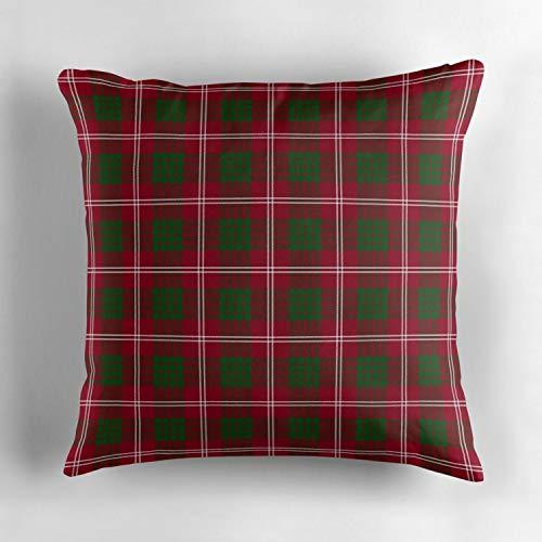Clan Crawford Tartan Custom Decorative Pillow Cover 18 x 18 Inches Animal Series Cotton Throw Pillow Case Cover Home Decor Cushion ()