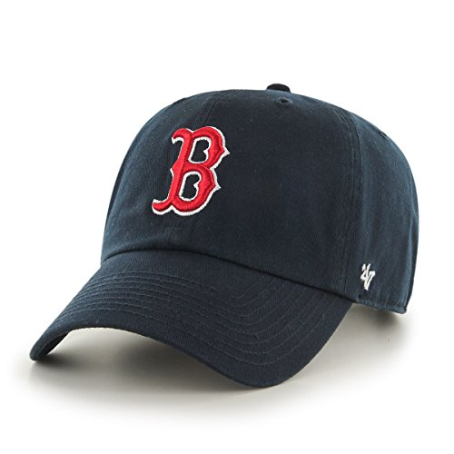 MLB Boston Red Sox Men's '47 Brand Home Clean Up Cap, Navy, One-Size (For Adults)