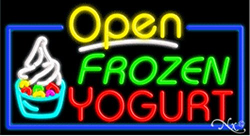20x37x3 inches Frozen Yogurt NEON Advertising Window Sign