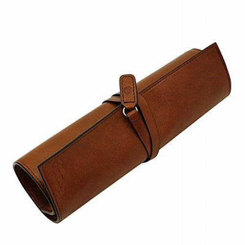 Craft Design Technology Leather Roll Pen Case (Cinnamon) - Made in Japan