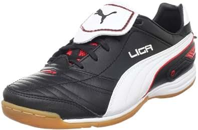 Puma Men's Liga Finale IT Soccer Shoe,Black/White/Red,9.5 D US