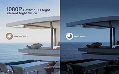 【2020 Upgrated】 Wireless Outdoor Security Camera, WiFi 1080P Solar Security Camera 10400mAh Rechargeable Battery, PIR Motion Detection, Night Vision, 2-Way Audio, 3 Antenna, IP67 Waterproof, Cloud SD 41ea2Qpo1KL