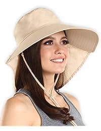 4fcfbe791a Sombrero de sol para mujer con protección UV, bloquea el 95% + de los