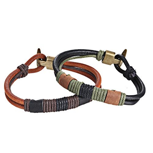 Leather Bracelets HERACULS Braided Vintage