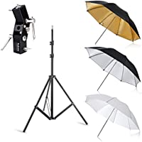 Selens Photo Umbrellas Kit 33/84cm White Soft/Silver Reflective/Gold Reflective Umbrella with Flash Bracket Mount for Portrait Photography , Studio and Video Lighting