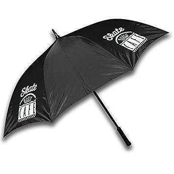 Patineta Cafe restaurante paraguas negro