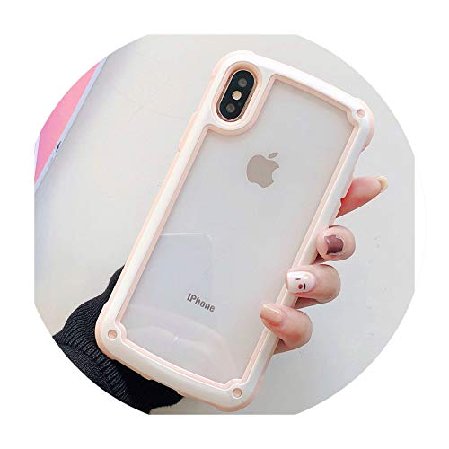 - Transparent case for iPhone 9 8/8P 7/7P 6S Military Anti-Falling Frame Mobile Phone case for iPhone X XS XR XSMAX Soft case,Style D,for iPhone 7