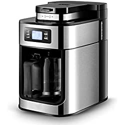 YLEI Drip Coffee Maker, 1.2L Automatic Coffee Machine, with Grinding Machine, 50s Fast Brewing, Easy to use, Intelligent Cup Dividing System, Anti-drip