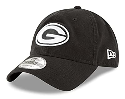 "Green Bay Packers New Era NFL 9Twenty ""Core Classic Twill"" Adjustable Black Hat from New Era"
