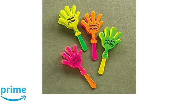 Pack of 24 24//Display Rite Lite TYP-13178 Hand Clapping Purim Graggers