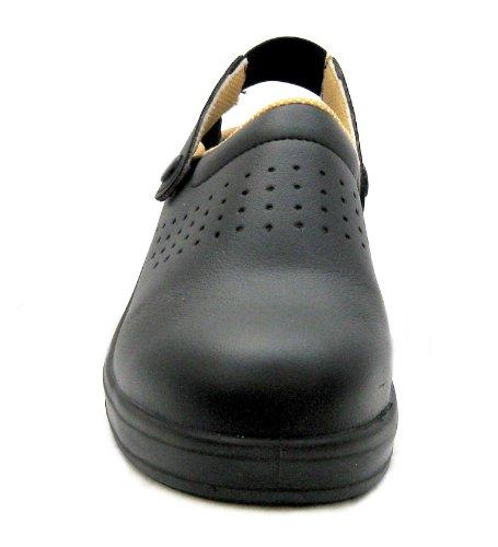 ESD Chaussures de sécurité unisexe sécurité Noir Sabots avec embout en acier (42)